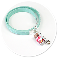 mint bracelet wiht chocolate cream