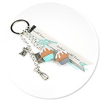 keyring with 'baked with love' no. 2