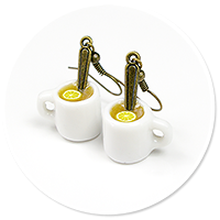 earrings mugs of tea