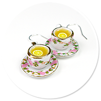 earrings cups of tea