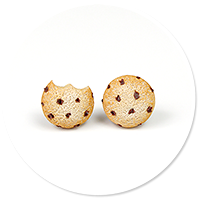 plug-in earrings mini cookies no. 3
