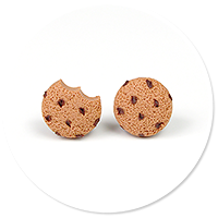 plug-in earrings mini cookies