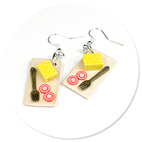 earrings cheese board