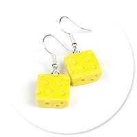 earrings cheese