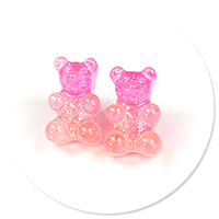 plug-in earrings colorful teddy bear no. 2