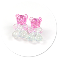 plug-in earrings colorful teddy bear no. 6
