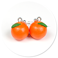 earrings oranges