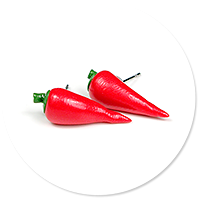 plug-in earrings peppers