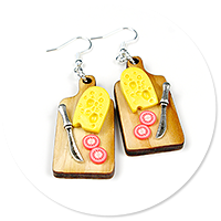 earrings cheese board no. 3