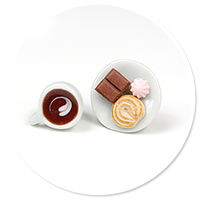 plug-in earrings coffee with sweets no. 5