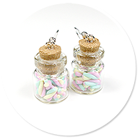 earrings jar with marshmallows no. 2