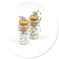 earrings jar with marshmallows no. 3