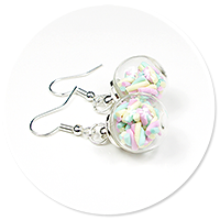 earrings ball with marshmallow