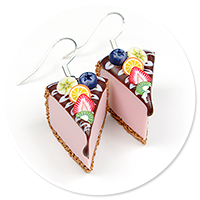 earrings cheese cake (fruits) no. 3
