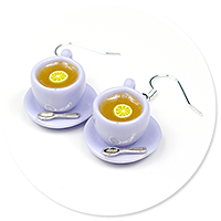 earrings cups with tea no. 5