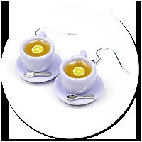 kolczyki filiżanki z herbatą nr 5