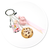 keyring with Little My, coffee and cookie no. 4
