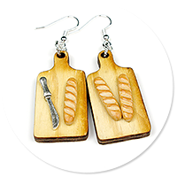 earrings with baguettes no. 3