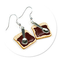 earrings toast with Nutella no. 2
