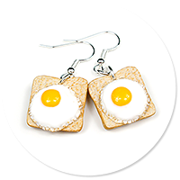 earrings toast with egg