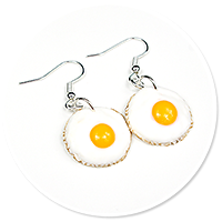 earrings fried eggs