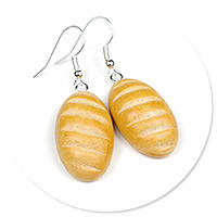 earrings with bread
