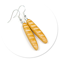 earrings with baguette