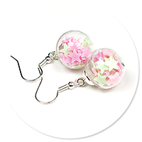 earrings ball with candies