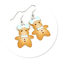 earrings cookie people no. 2