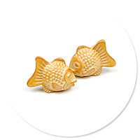 plug-in earrings fish-shaped cookies