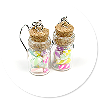 earrings jar with candies no. 5