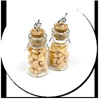 kolczyki słoiczki z makaronem
