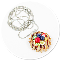 necklace waffel with fruits no. 3