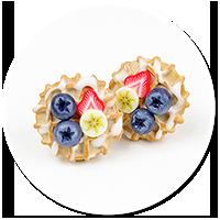 kolczyki wtykane gofry z owocami nr 5