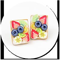 kolczyki wtykane gofry z owocami nr 7