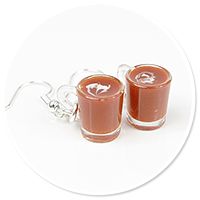 earrings mugs of hot chocolate