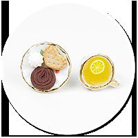 kolczyki wtykane herbatka ze słodyczami nr 2