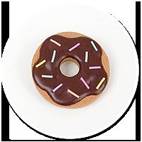 broszka ciastko donut