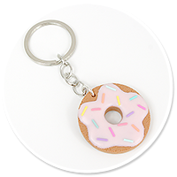 keyring with cookie donut no. 3