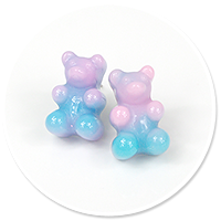 plug-in earrings colorful teddy bear no. 8