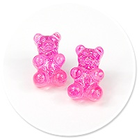 plug-in earrings colorful teddy bear no. 7