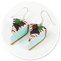 earrings mint cheese cake