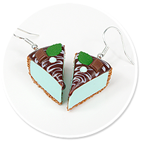earrings mint cheese cake no. 5