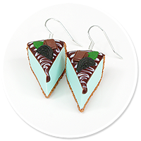 earrings mint cheese cake no. 6