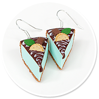 earrings mint cheese cake no. 7