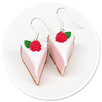 earrings cheese cake (raspberry)