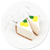 earrings cheese cake (fruits) no. 7
