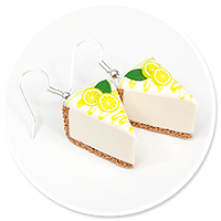 earrings cheese cake (fruits) no. 8