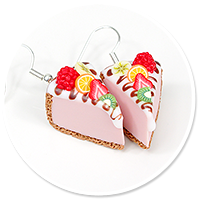 earrings cheese cake (fruits) no. 6
