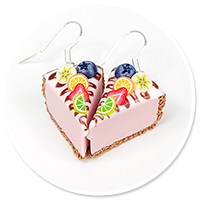 earrings cheese cake (fruits) no. 4